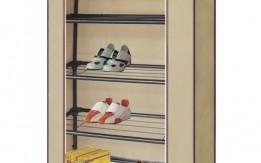 خزانة الأحذية المصنوعة من القماش والحديد المكون من 4 طبقات .