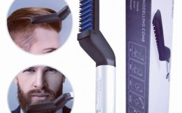 مشط اللحية و الشعر  الكهربائي للرجال مشط الشعر الحراري للرجال للشعر