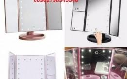 منتجات التجميل مرآه مع قاعدة و مكبر 22 لمبة ليد ذكية شاشة تعمل باللمس المرآ