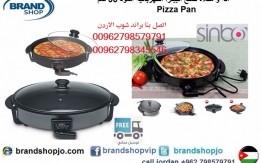 الة و مقلاة صنع البيتزا و طبخ الخضار الكهربائي مع غطاء زجاجي من سينبو اسود