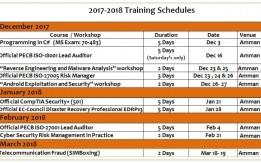 دورات و ورش عمل تدريبية 2017/2018